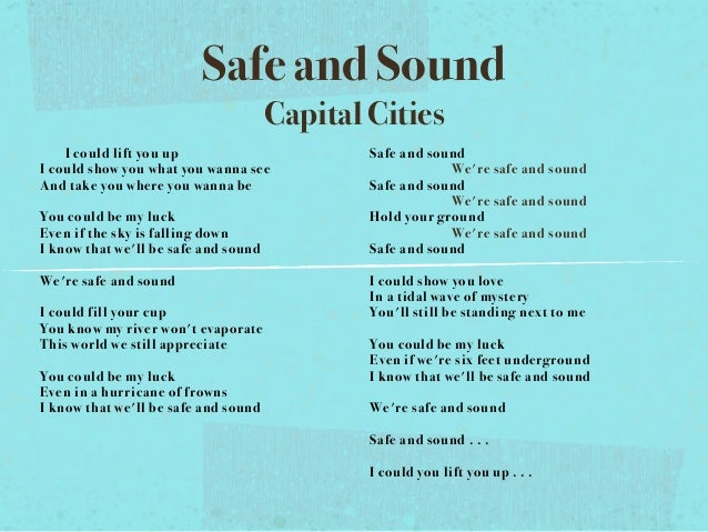 Capital Cities - Safe And Sound - YouTube