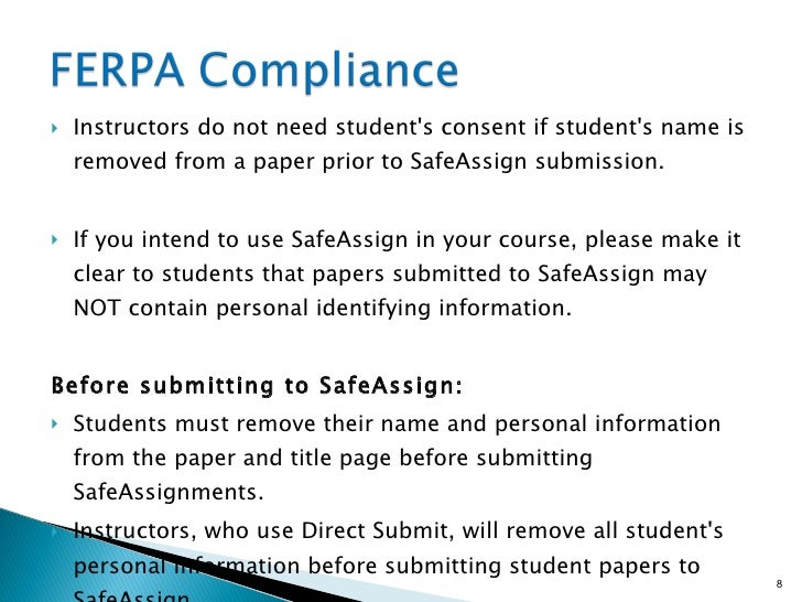 final draft safe assign Using safeassign in blackboard  will be able to view the report returned from safe assign  will need to add another non-draft safeassignment or provide some.