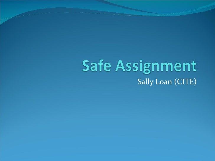 Sally Loan (CITE)