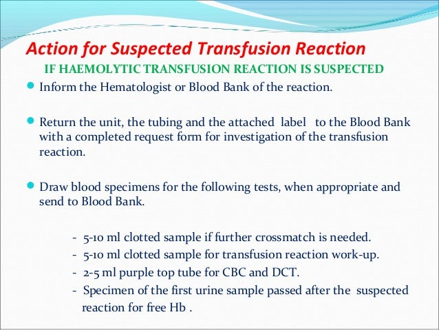 blood transfusion complications