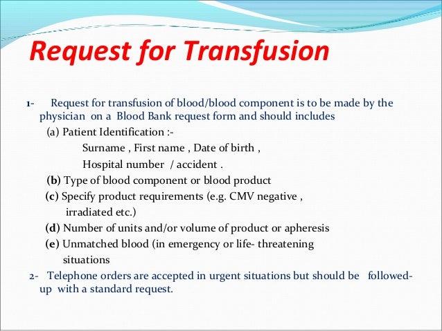 Safe Blood Transfusion
