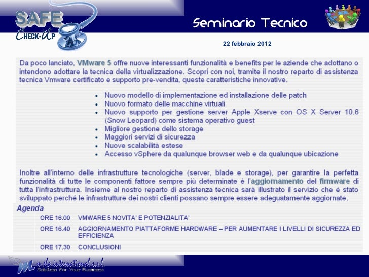 Seminario Tecnico 22 febbraio 2012