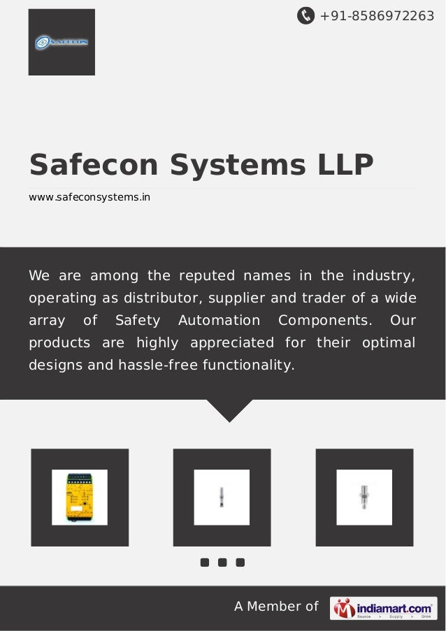 +91-8586972263  Safecon Systems LLP www.safeconsystems.in  We are among the reputed names in the industry, operating as di...