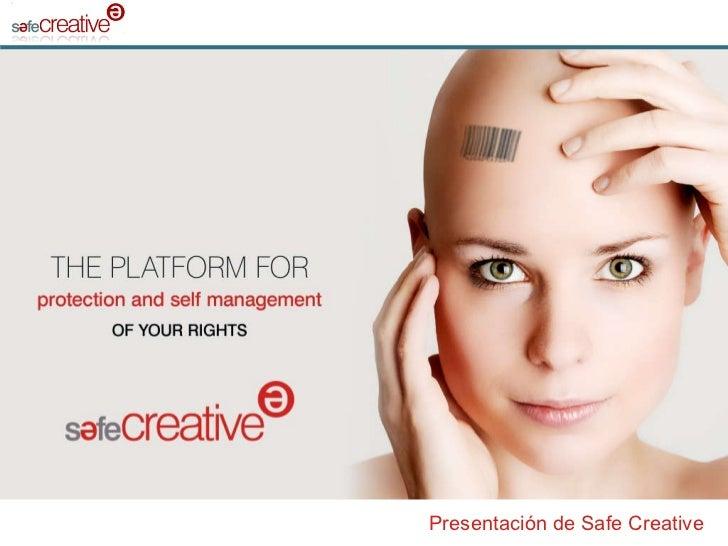 Presentación de Safe Creative