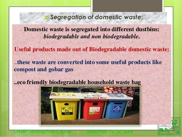 how to dispose biodegradable and nonbiodegradable waste