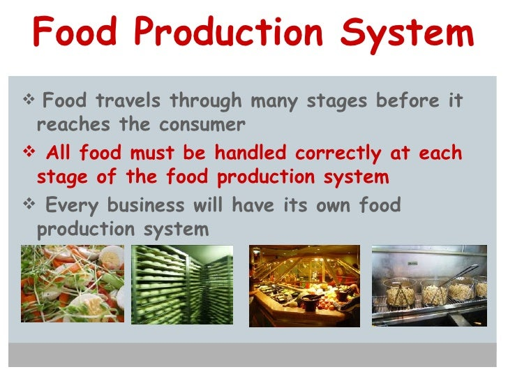 Food Production System <ul><li>Food travels through many stages before it reaches the consumer </li></ul><ul><li>All food ...