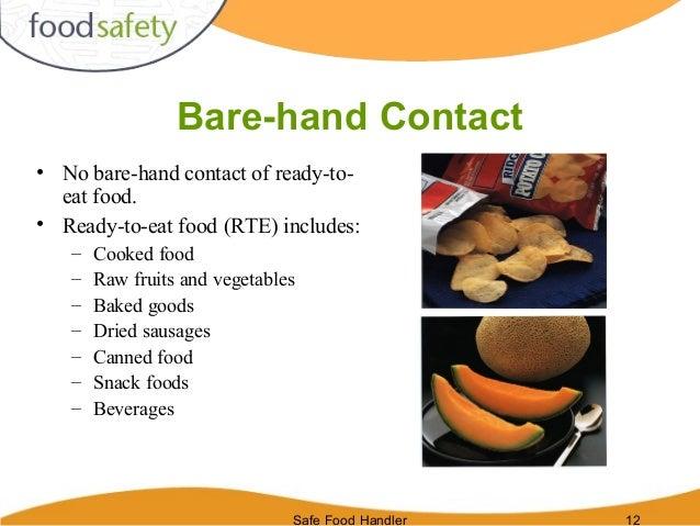Food Safety Bare Hands ~ Safe food handlers
