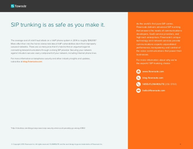 6 Steps to SIP trunking security
