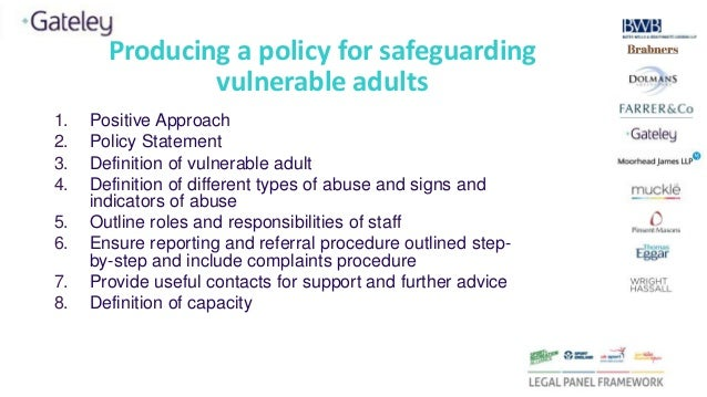 Safeguarding abuse and vulnerable adults