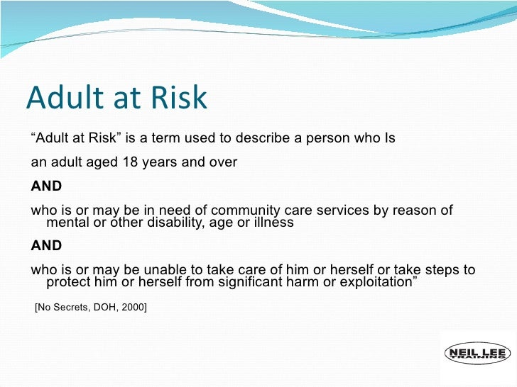 grooming vulnerable adults