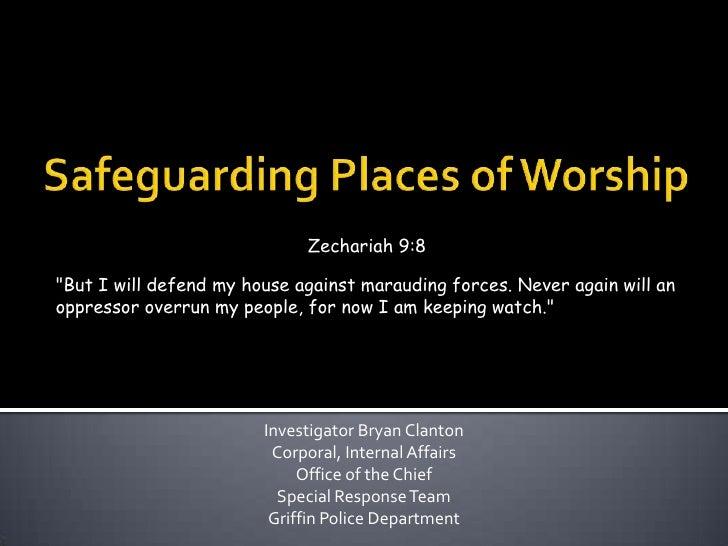 Safeguarding places of worship