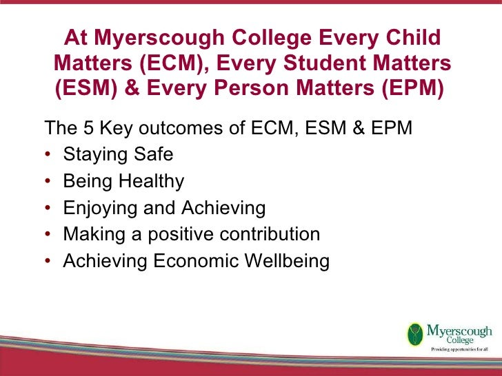 5 key outcomes of every child matters