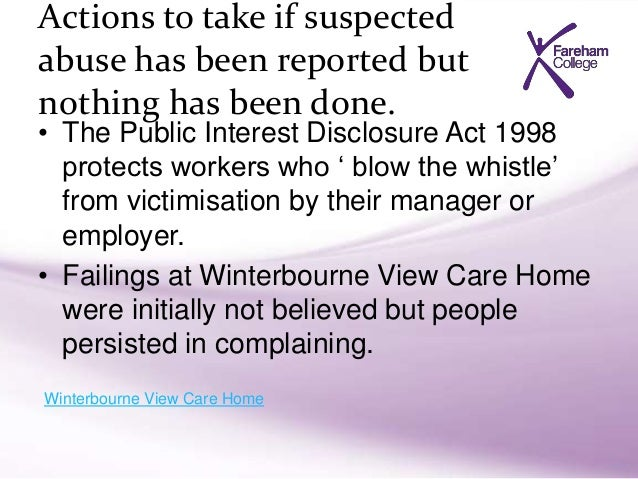 Importance of complaints procedure to reduce abuse in adults