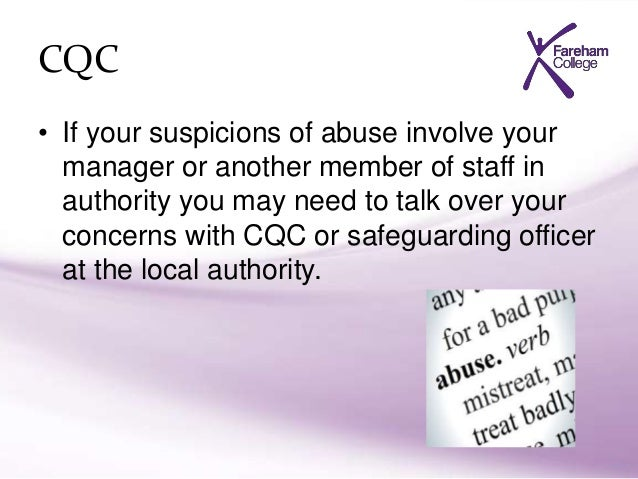 explain the action to take if there are suspicions that an individual is being abused Below is an essay on explain the actions to take if an individual alleges that they are being abused from do my essay , your source for research papers, essays, and term paper examples describe the action to take if suspected abuse or unsafe practice have been reported but nothing has been done.