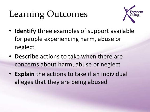 Hsc 024 explain the actions to take if an individual alleges that they are being abused