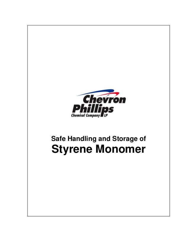 Safe Handling and Storage of  Styrene Monomer