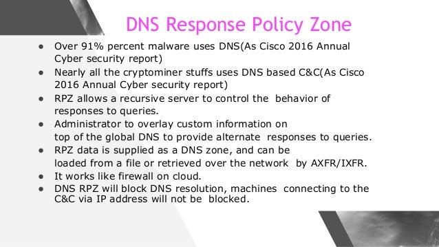 Make the internet safe with DNS Firewall Slide 3