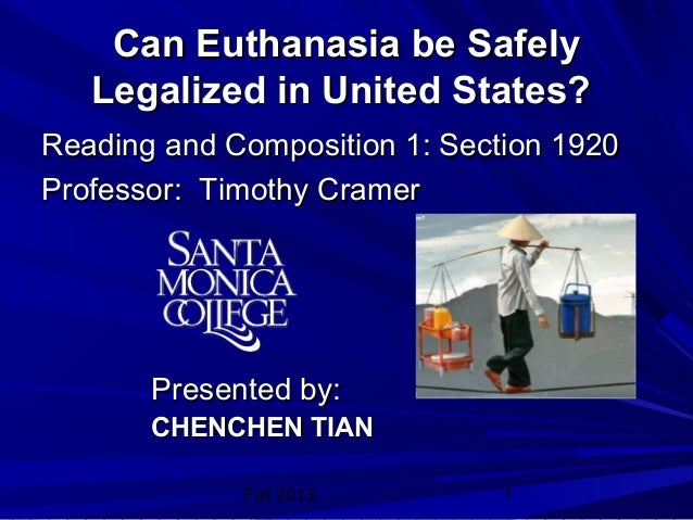 We shouldnt legalising euthanasia