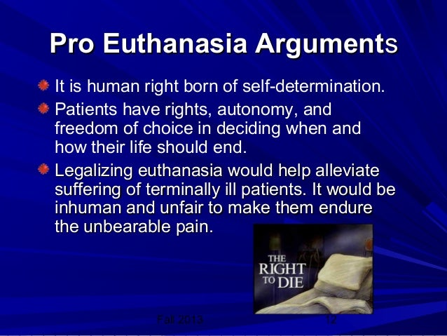EUTHANASIA BE LEGALIZED IN THE PHILIPPINES