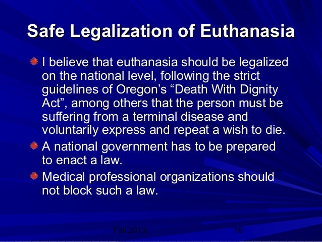 Arguments For and Against Euthanasia