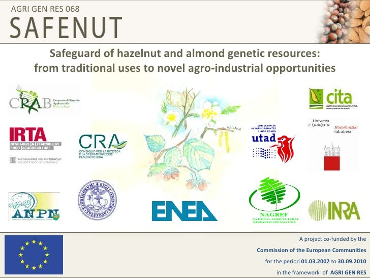 AGRI GEN RES 068<br />Safeguard of hazelnut and almond genetic resources:from traditional uses to novel agro-industrial op...