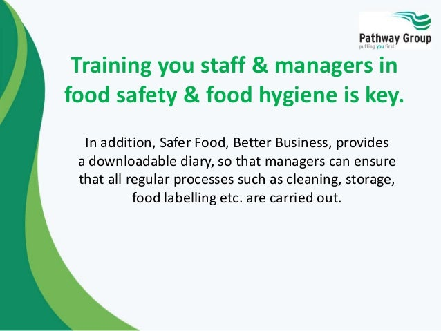 Food Hygiene Safer Food Better Business