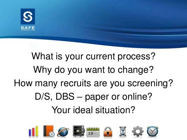 Safe screening meeting presentation