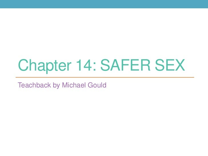 Chapter 14: SAFER SEXTeachback by Michael Gould