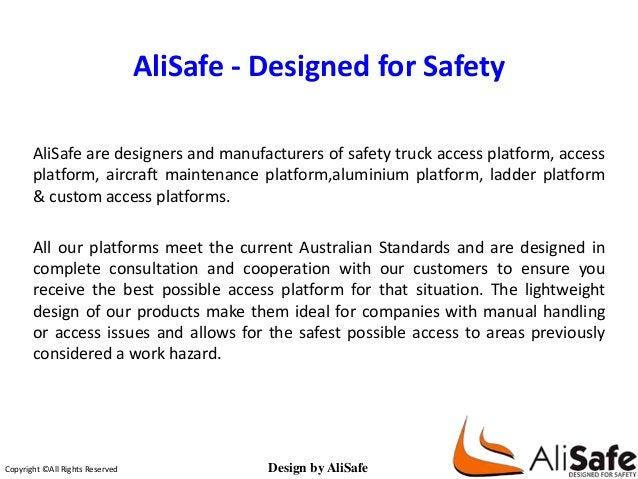 AliSafe - Designed for Safety  AliSafe are designers and manufacturers of safety truck access platform, access  platform, ...