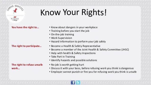 Understand That The Right To: Your Guide To Workplace Safety
