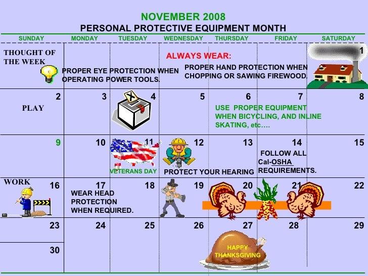 Safety Calendar2008