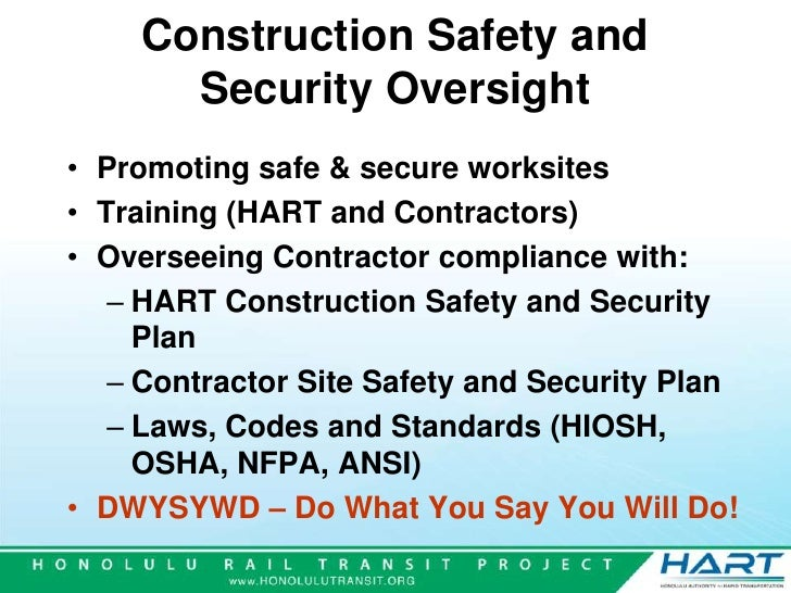 HART Safety Security – Site Security Plan For Construction Project