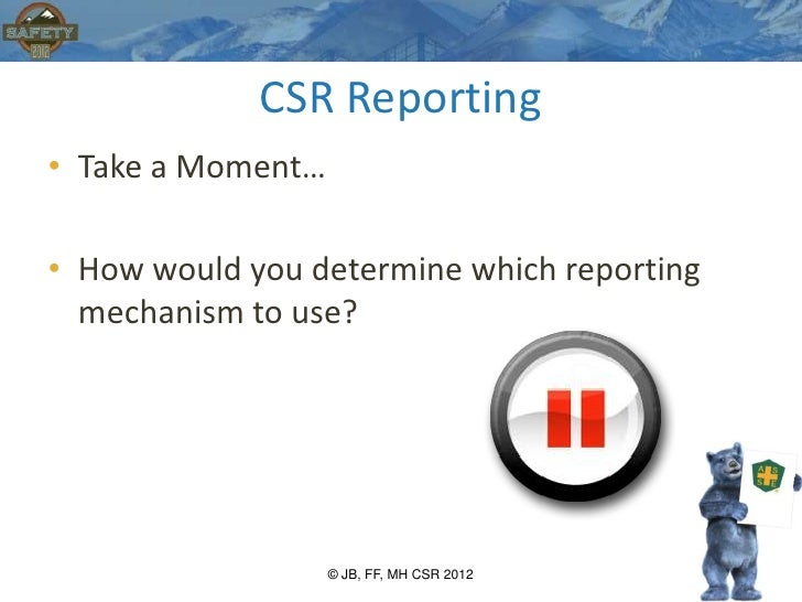 Corporate Sustainability Reporting (CSR)