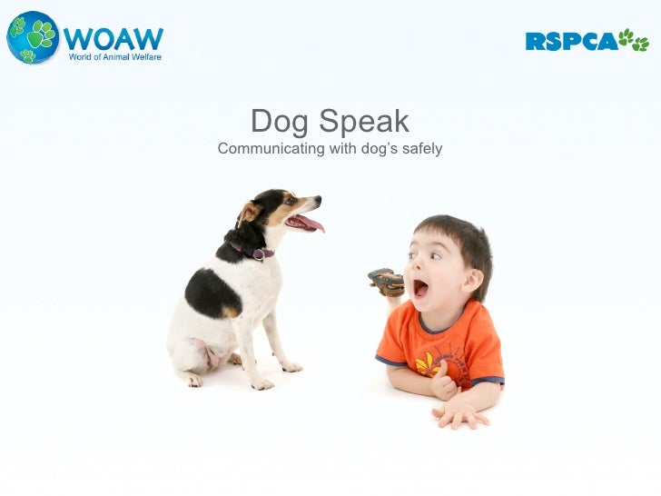 Dog Speak Communicating with dog's safely