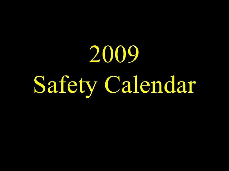 2009 Safety Calendar