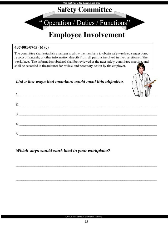 Safety Committee Minutes Template. safety meeting minutes template ...