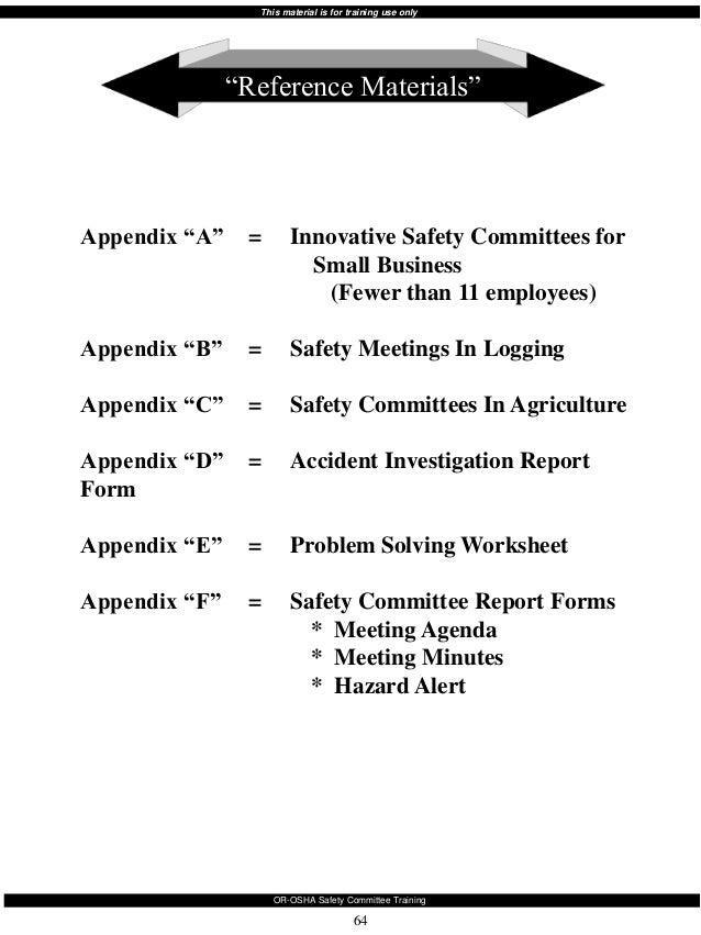 Safety committee training