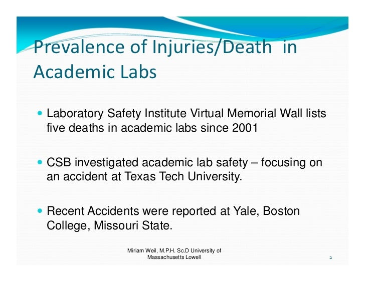 Safety culture and academic laboratory accidents