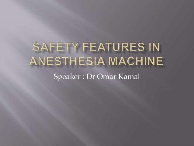 Speaker : Dr Omar Kamal
