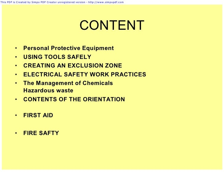 personal protective equipment in industry pdf