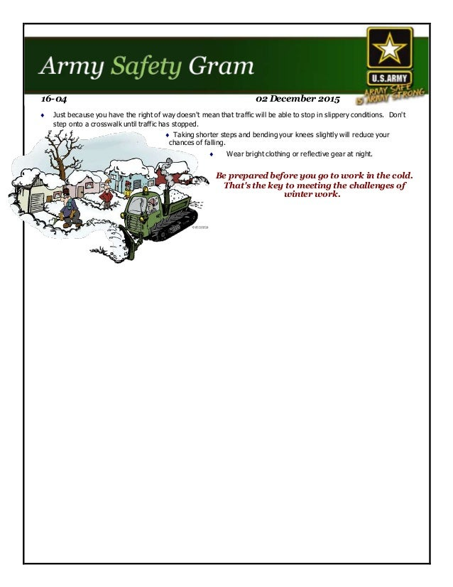 Safety gram 16 04 tune yourself up for winter walking