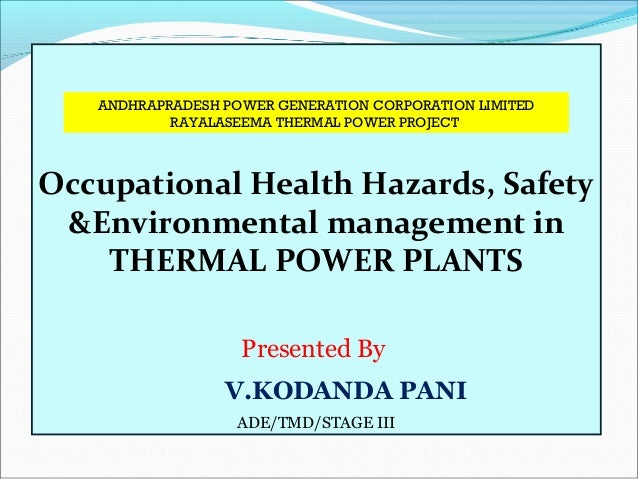 Safety Health And Environment Aspects In Thermal Power Plants. Occupational Health Hazards Safety Environmental Management In Thermal Power Plants Presented By Vkodanda. Wiring. Hazord Saftey A Diagram Of A House At Scoala.co