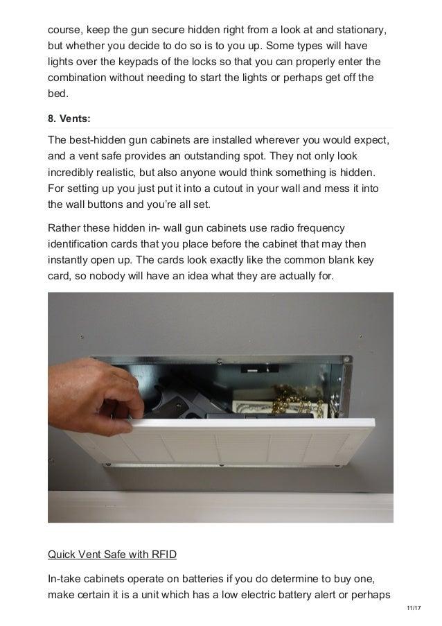 Top 10 hidden gun cabinet guides and ideas - Safetyhub net