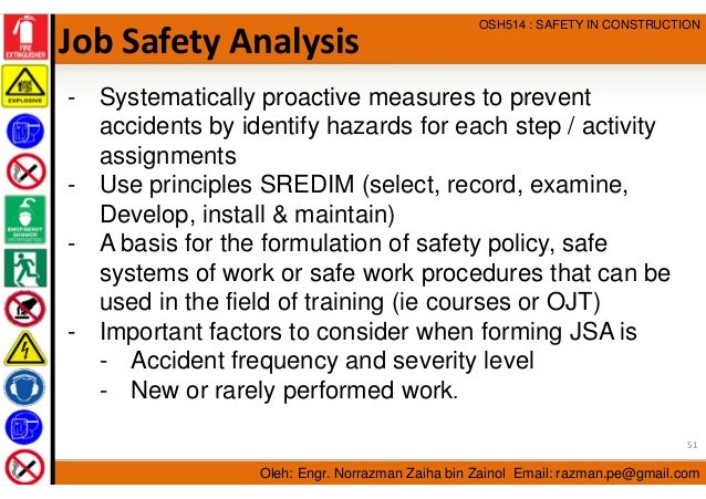 Occupational Safety and Health Management in Construction Industry – Job Safety Analysis Template Free