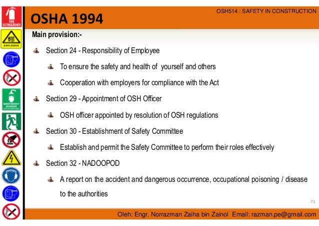 an overview of the occupational and environmental health and safety management Ehsm overview the cuyamaca environmental health and safety management program provides a curriculum that prepares new and continuing students for both immediate (osh) management occupational safety and health professionals assist employers in complying with industry best.