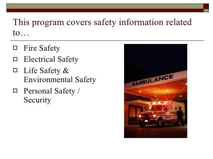 Safety in hospitals Slide 2