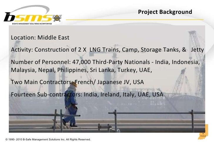 Behavioral Safety Leadership in Oil & Gas construction Slide 2
