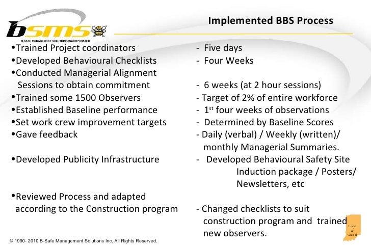 Behavioral Safety Leadership in Oil & Gas construction Slide 3
