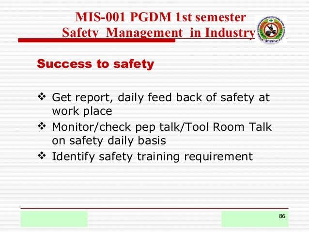 Safety management pgdm- mis-1