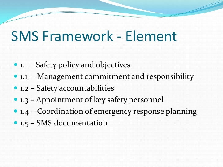 Safety Management System framework